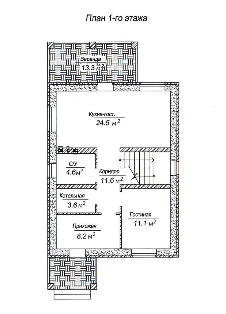 Поляны, ул. Комсомольская, 120 м2 планировка